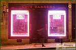 Glasgow City Guide Photographs: Glasgow at NightCity Barbers.jpg08 December 2004 16:43