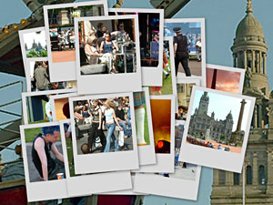 Glasgow People Postcards Collage