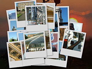 Glasgow Places Postcards Collage
