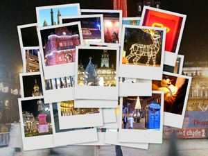 Glasgow Christmas Postcards Collage