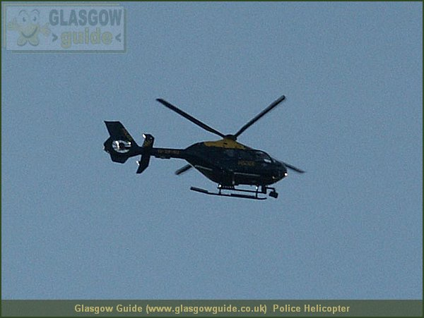 Glasgow City Guide Photograph: Glasgow Guide: Images: Police Helicopter.jpg Police Helicopter Castlemilk 13:50: 24 True color (24 bit) 16777216 451 600 Police Helicopter.htm