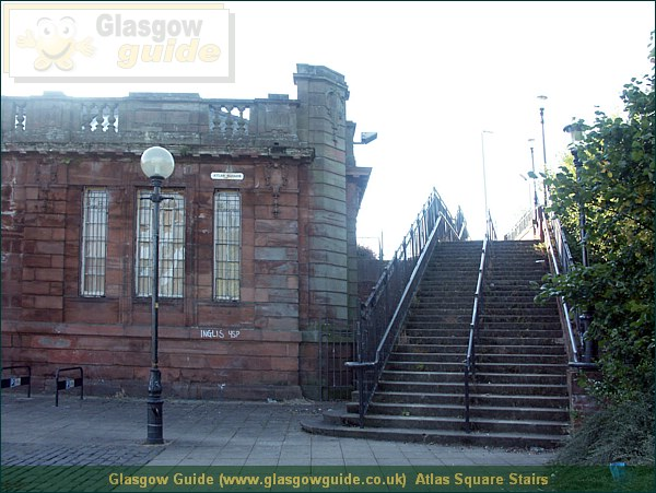 Glasgow City Guide Photograph: Glasgow Guide: Images: Atlas Square Stairs.JPG Atlas Square Stairs Springburn55.2 KB 00:02: 24 True color (24 bit) 16777216 Make: Minolta Co., Ltd. Model: DiMAGE 7i DateTime: 15/01/2004 00:02:44 EXIFImageWidth: 2312 ExifImageLength: 1734 Flash: Flash did not fire - Compulsary flash surpression ISOSpeedRatings: ISO 100 FocalLength: 7.27 mm 15/01/2004 00:02:44 451 600 Atlas Square Stairs.htm