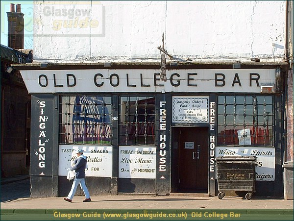 Glasgow City Guide Photograph: Glasgow Guide: Images: Old College Bar.JPG Old College Bar High Street69.9 KB 13:20: 24 True color (24 bit) 16777216 Make: FUJIFILM Model: FinePix2800ZOOM DateTime: 10/01/2004 13:20:53 EXIFImageWidth: 1440 ExifImageLength: 1080 Flash: Flash did not fire ISOSpeedRatings: ISO 100 ShutterSpeedValue: 1/208 sec ApertureValue: F4.76 FocalLength: 10.8 mm 10/01/2004 13:20:53 451 600 Old College Bar.htm