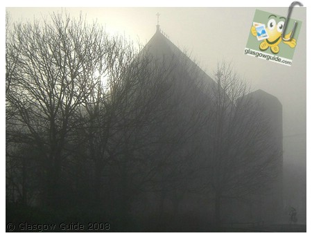 Glasgow City Guide Photographs: GG  Fog gathers over St Mungo's church in Townhead.jpg  31 December 2008 18:42