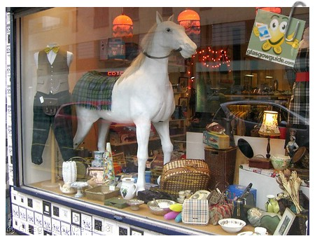 Glasgow City Guide Photographs: GG  Horse for sale in Panopticon shop window.jpg  31 December 2008 18:42