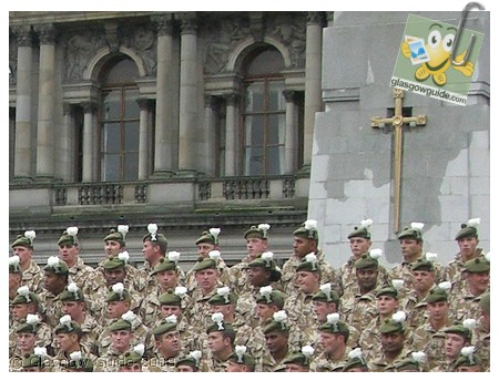 Glasgow City Guide Photographs: GG  Royal Highland Fusiliers come home.jpg  31 December 2008 18:42