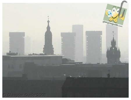 Glasgow City Guide Photographs: GG  Smog in the gorbals.jpg  31 December 2008 18:43