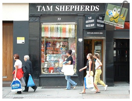 Glasgow City Guide Photographs: GG  Tam Shepherds trick shop is 122 years old.jpg  31 December 2008 18:43