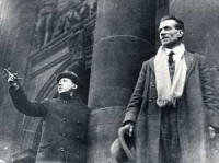 Famous Glaswegian: Emanuel Shinwell (left) and Harry Hopkins